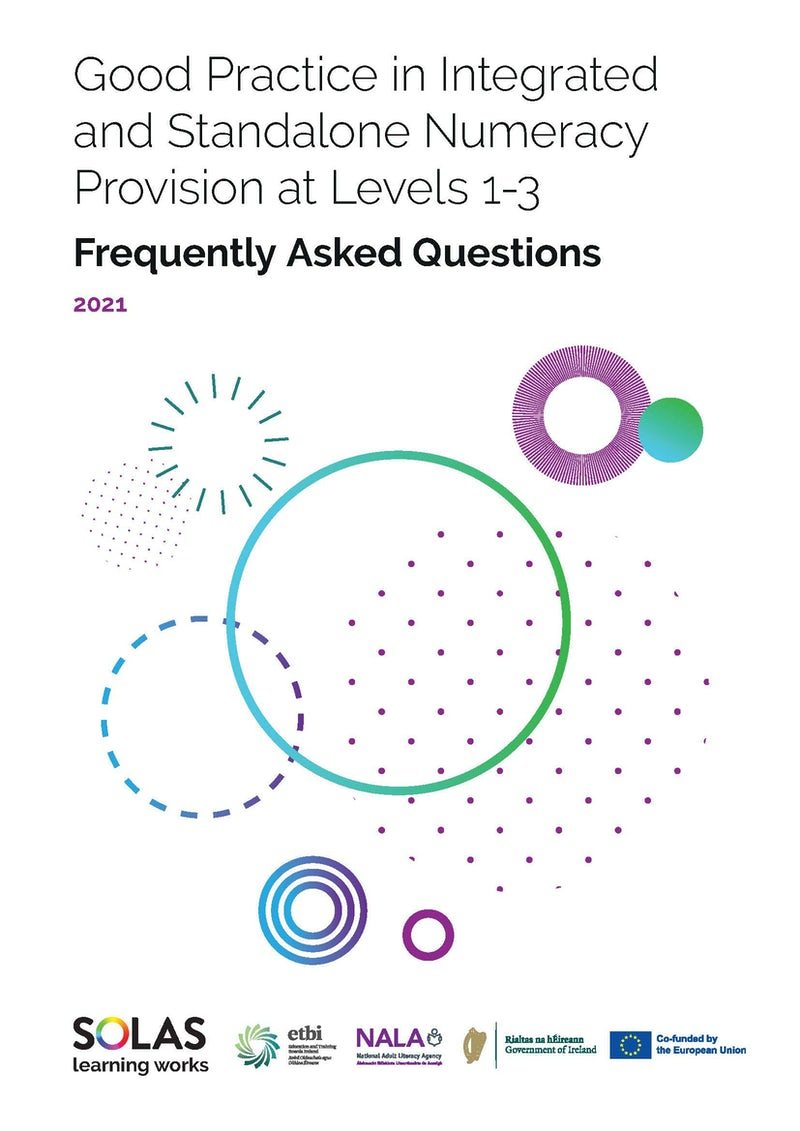 FAQs - Good Practice in Integrated and Standalone Numeracy Provision at Levels 1-3